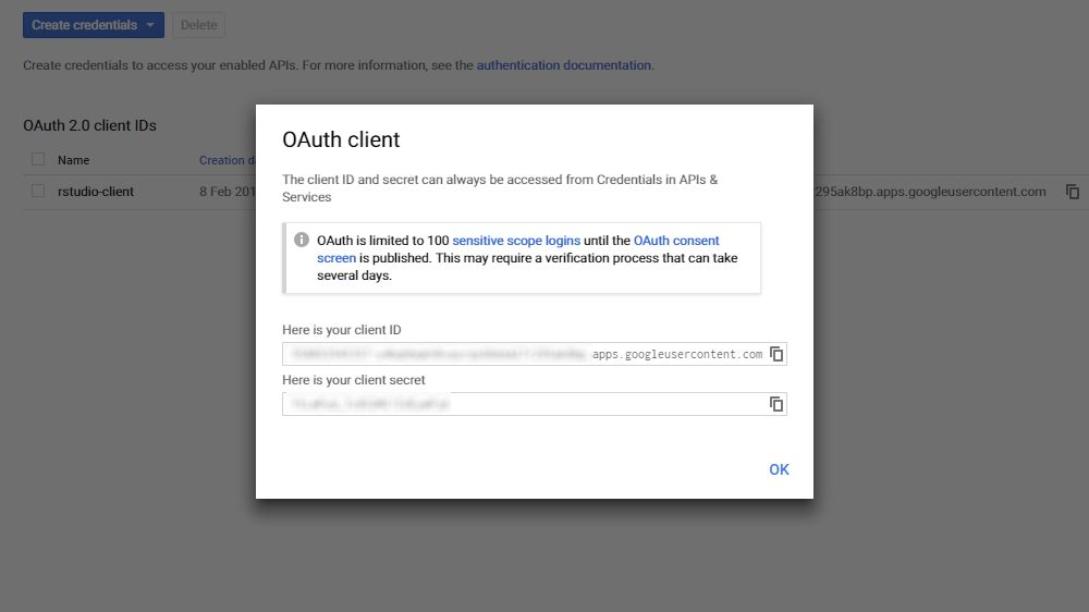 OAuth Client Id and Client Secret