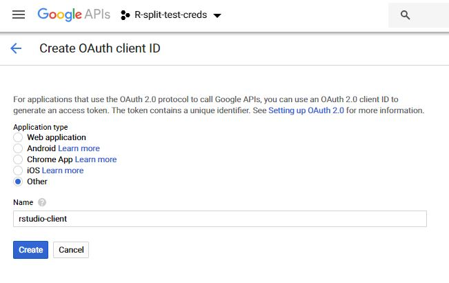 creat oauth client ID
