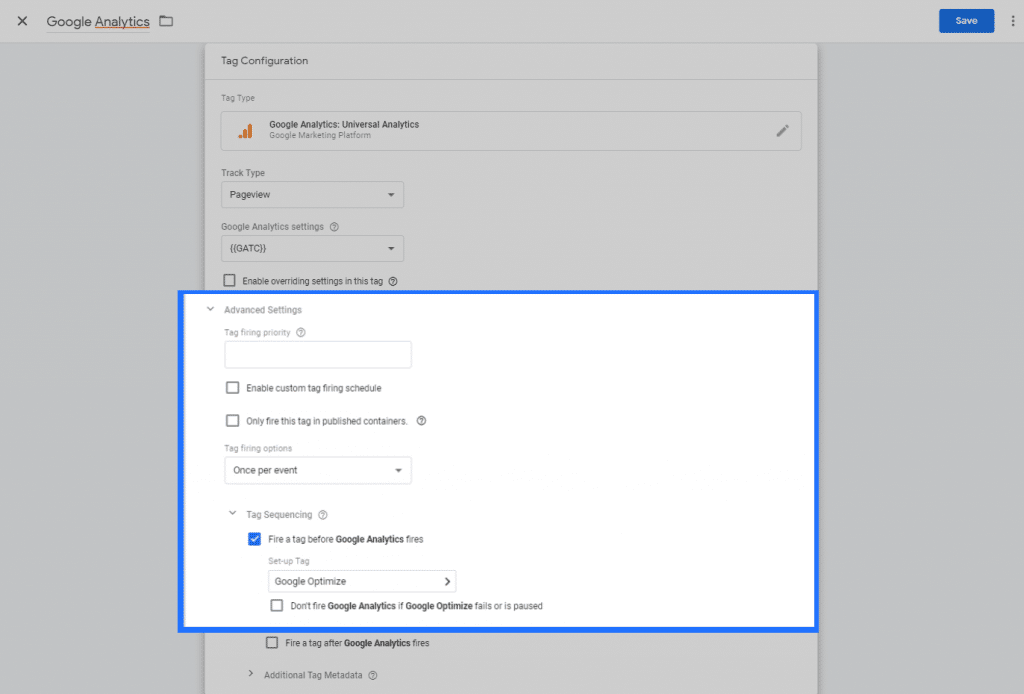 Link Google Optimize to your Google Analytics Account