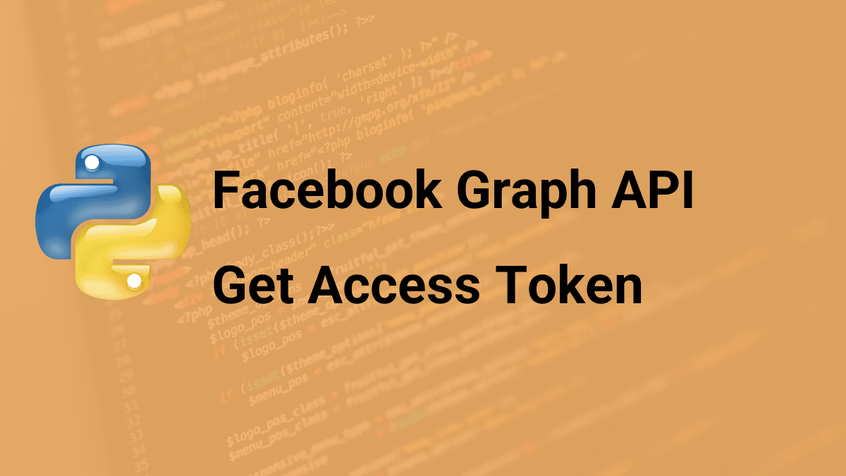get access token facebook graph api