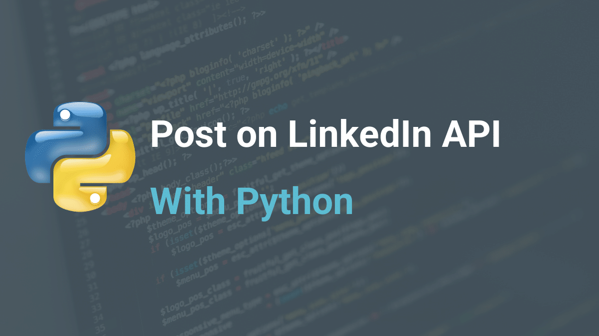 Post on LinkedIn API with Python