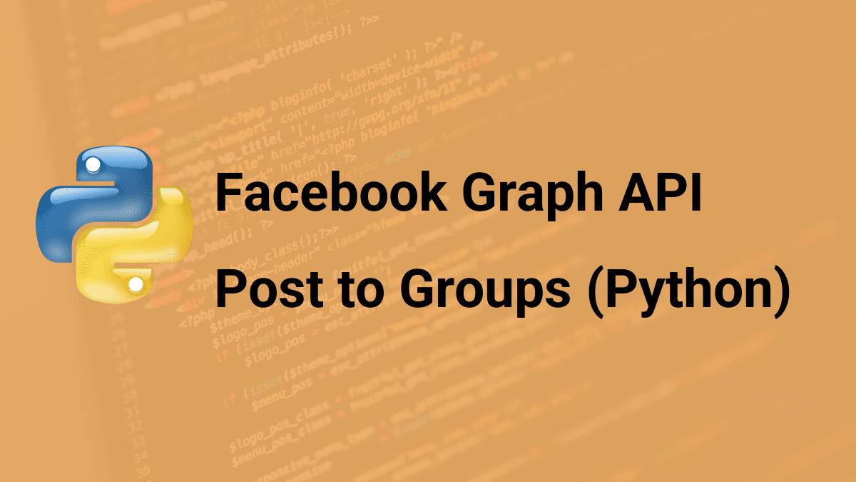 post to groups with facebook api and python
