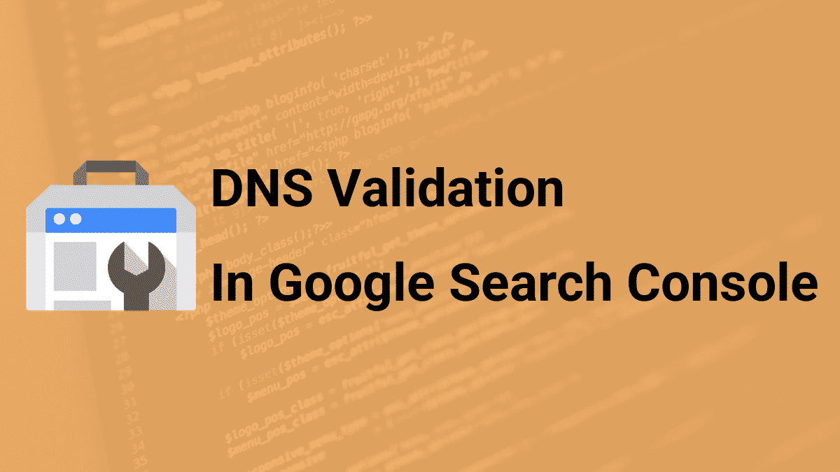 dns validation in Google Search console