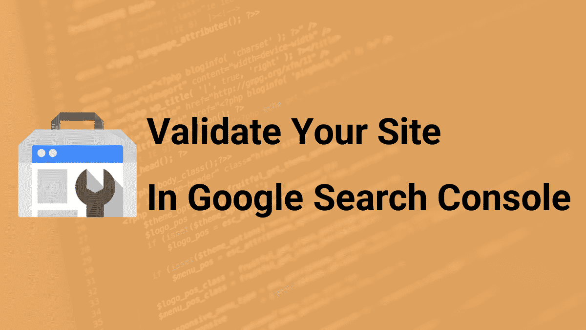 how to validate a website in Google Search Console